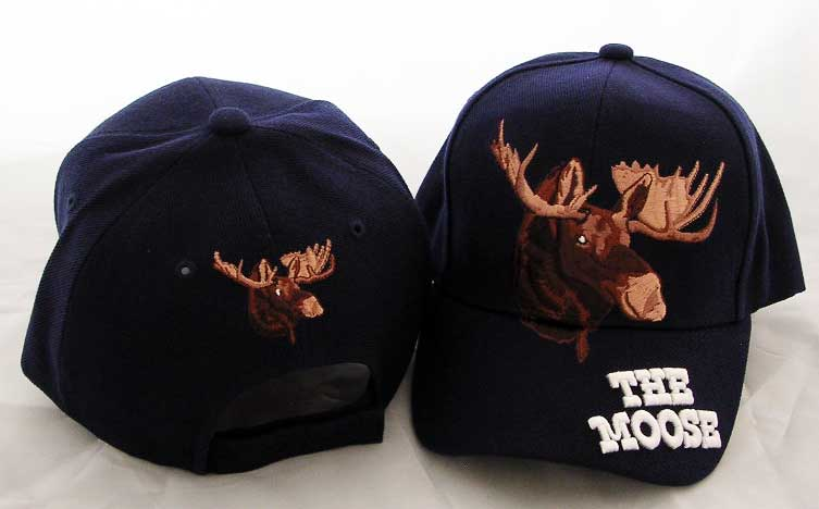 "Baseball Hat - Blue with ""The Moose"""