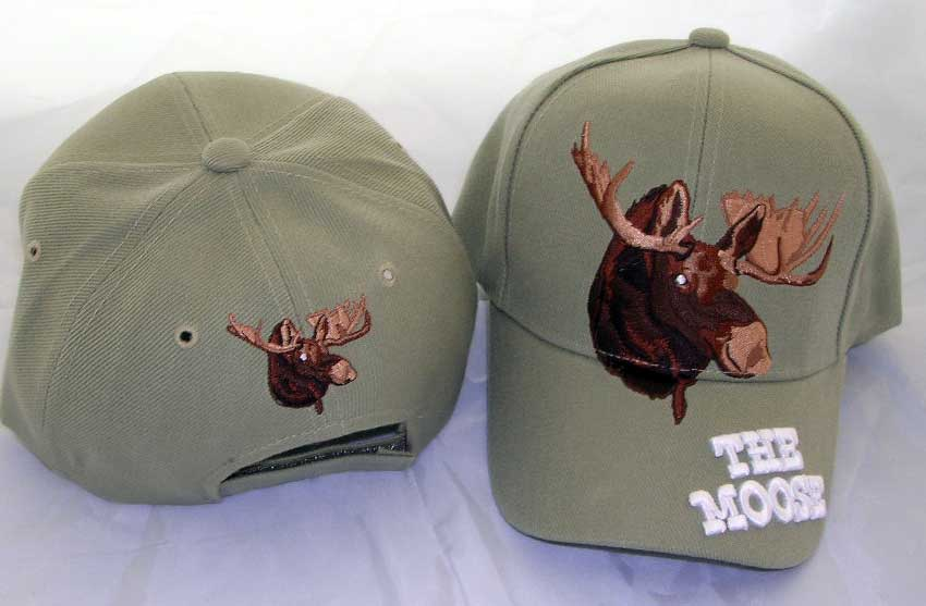 "Baseball Hat - Tan with ""The Moose"""