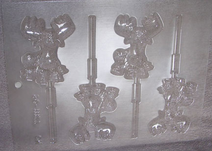 Moose Chocolate Lollipop Mold