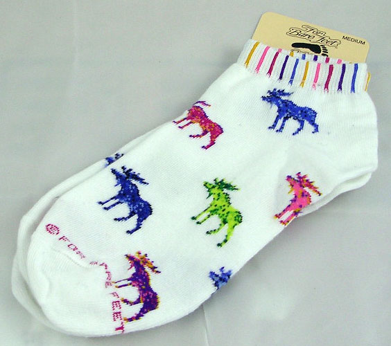 White Moose Socks Psychedelic